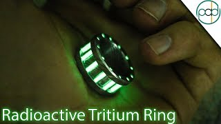 Making a Tritium and Damascus Steel Glow Ring