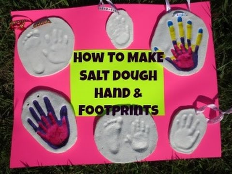 How To Make Salt Dough Handprint & Footprint Plaques! **DIY**