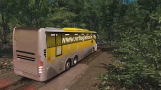 🔴ETS2 Indonesia Sumatra Map 1 31 - M Husni Scania bus Mod