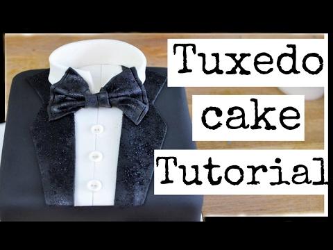 HOW TO MAKE A FONDANT SHIRT & TIE CAKE | BACHELOR PARTY CAKE DESIGN | EASY TUXEDO CAKE