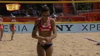 Michelle/Filippo (PAR) vs. Turnerova/Tomasekova (SVK)  - Den Haag - Women World Championships 2015