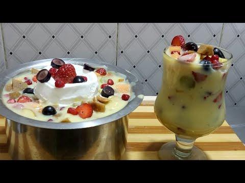 ಫ್ರೂಟ್ ಸಲಾಡ್/custard recipe/ fruit salad/mixed fruit custard,