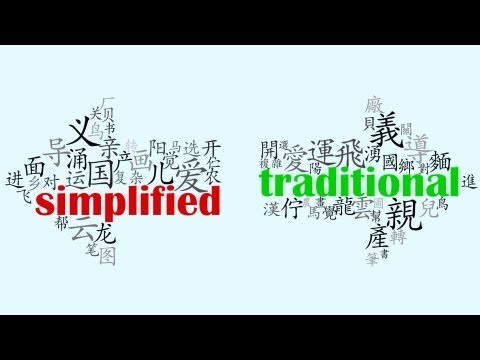 Simplified vs Traditional Chinese Characters | China Uncensored