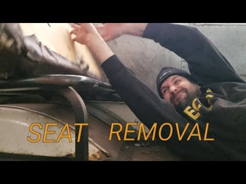 Gutting our bus! Seats and wall removal