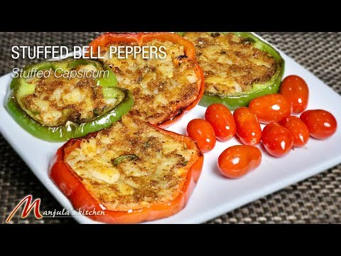 Stuffed Bell Peppers (Stuffed Capsicum Rings) Recipe by Manjula