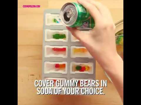 Aprenda a fazer sorvete de vodka com gummy bears