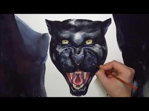 [Watercolor] Black Jaguar