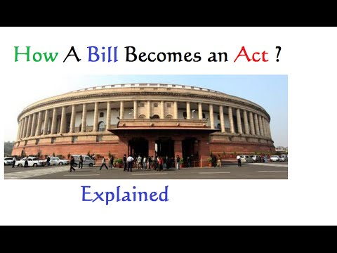 How A Bill Becomes An Act : Explained