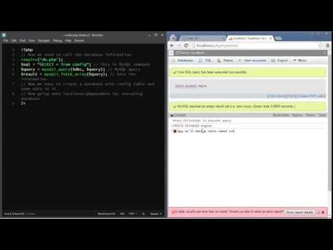 Basic idea of PHP and MySQL blog