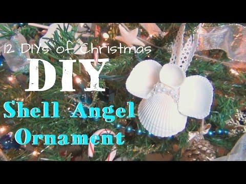 Shell Angel Christmas Ornament ♥ 12 DIYs of Christmas