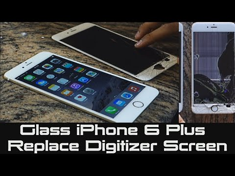 How to Replace Cracked iPhone LCD Screen | Fix Cracked Digitizer iPhone 6 Plus