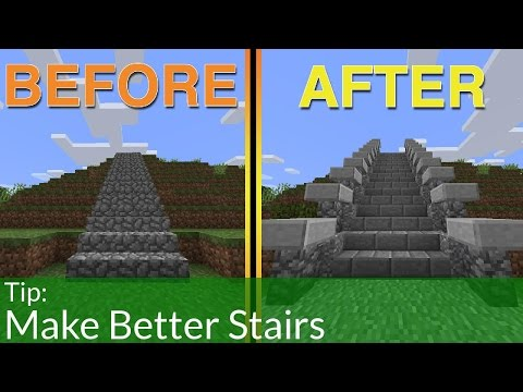 How To Build Better Stairs In Minecraft