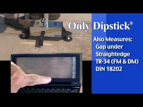 Face® Dipstick® Floor Profiler (Measuring F-Numbers - Concrete Flatness & Levelness Measurement)
