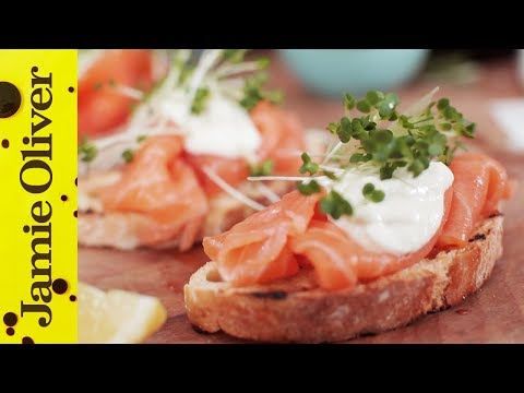 Smoked Salmon & Horseradish Canapes | Jamie Oliver