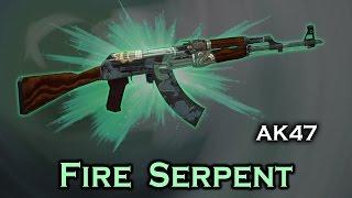 stattrak ak 47 fire serpent factory new showcase 4 titan