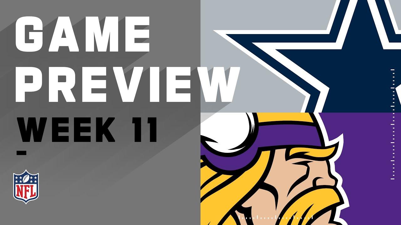 Dallas Cowboys vs. Minnesota Vikings | NFL Week 11 Game Preview