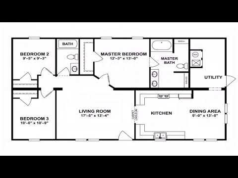 3 Bedroom 2 Bath Modular Home Floor Plans