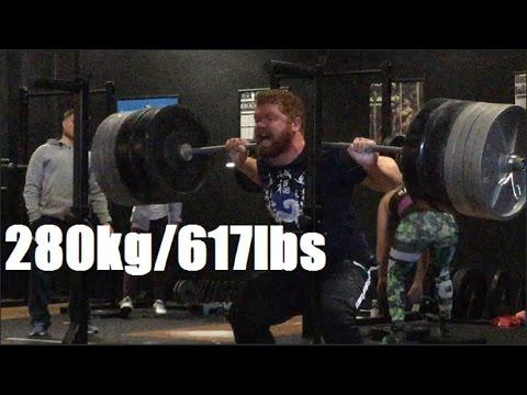 Eoin Squats 280kg!!! - CSP Super Totals