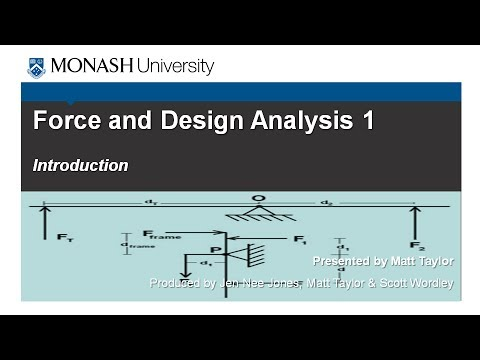 Force and Design Analysis 1: Introduction