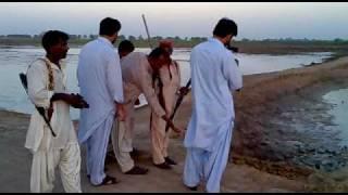 jacobabad,,,MIR ALI NAWAZ KHAN PANHWER,,,checking his weapons in village