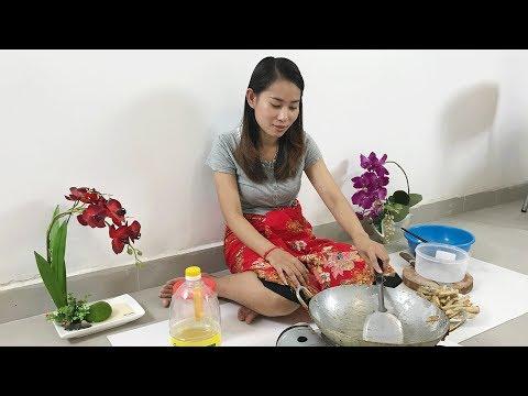 Village Food Factory | Beautiful Girl make Taro Chip | Asian Food