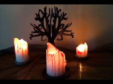 DIY Halloween Decorations   Blood Drip Candles