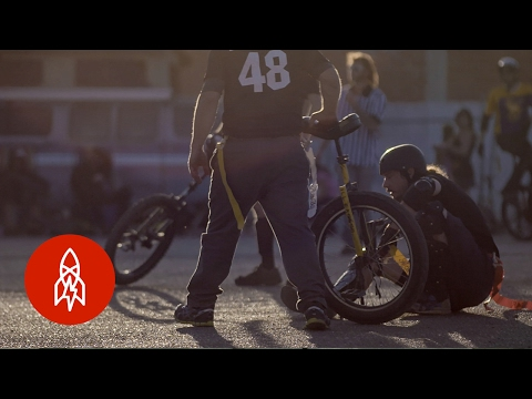 Unicycles + Football: What Could Possibly Go Wrong?