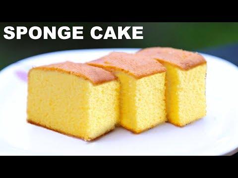 Sponge Cake Without Oven | Basic Plain & Soft Vanilla Cake at Home | CookWithNisha