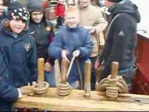Irish kids learning the ropes