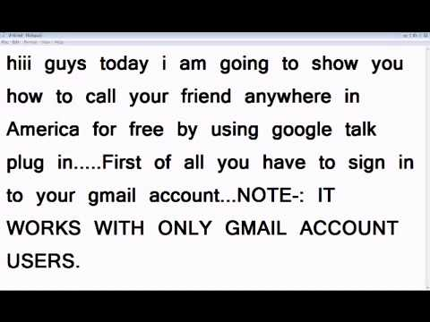 How to make free calls from your gmail account