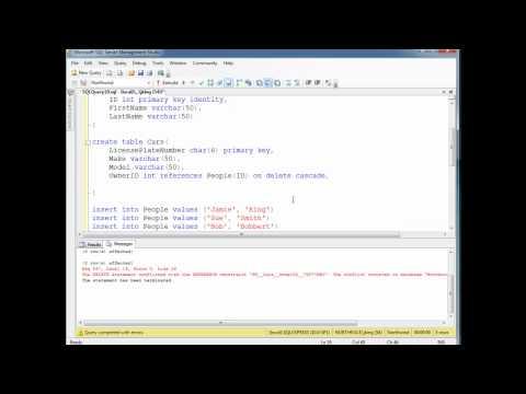 SQL CASCADE, SET DEFAULT, NO ACTION