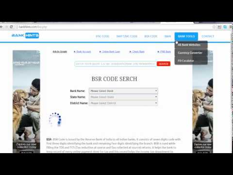 how to find out All Bank MICR IFSC SWIFT BSR IBAN PIN TOOL codes in world wide