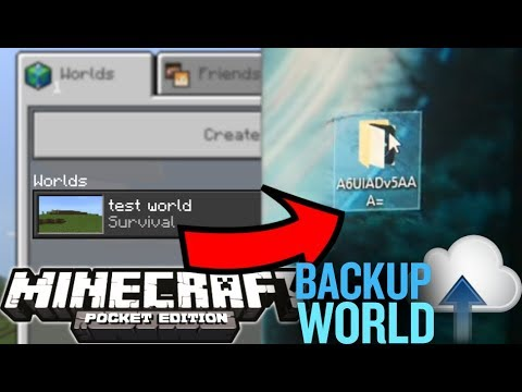 How To Back Up Your Minecraft PE Worlds (Tutorial)
