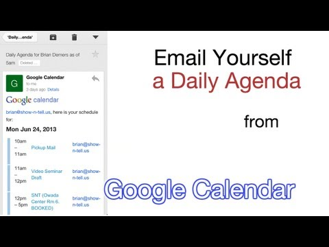 Email Yourself a Daily Agenda from Google Calendar