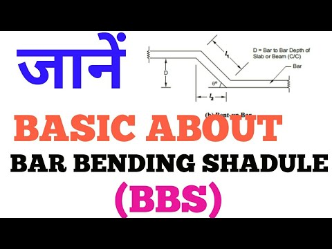 9 of 50-Basic  about Bar bending shedule(BBS) of construction work or civil engineering work  HINDI