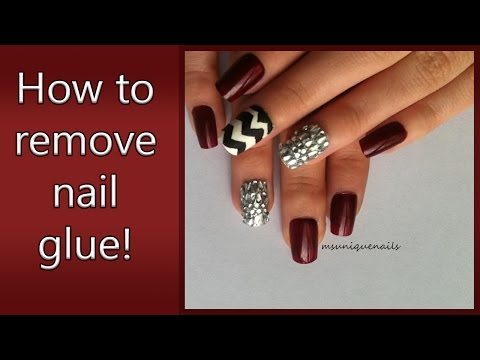 DIY:How to remove nail glue from your nails!