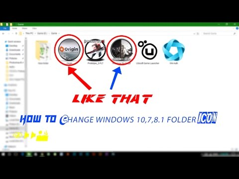 [How To] Change Folder Icon in Windows 8 & 10 [Tutorial]