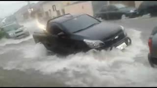 Botucatu: Força da água durante temporal impressiona