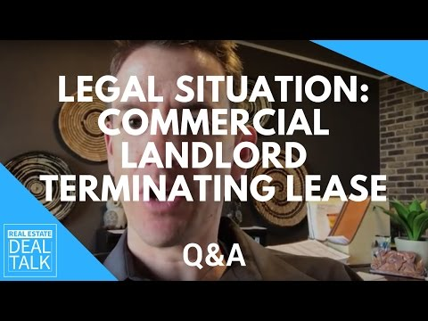 Legal Situation: Commercial Landlord Terminating Lease