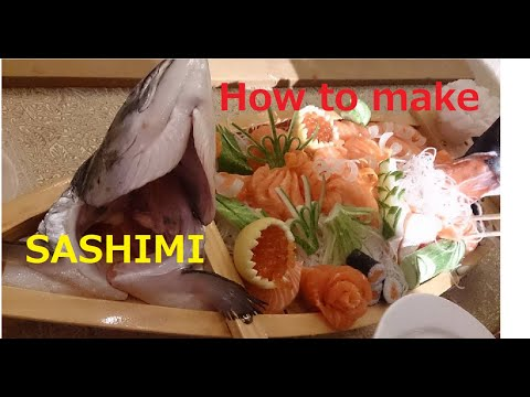 Chef Keiichi How to cut Salmon Sashimi and Sushi fillet ☆