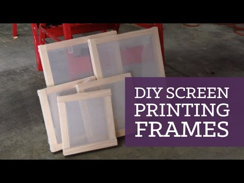 DIY screen printing frames   CharliMarieTV
