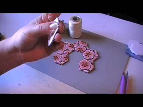 English Paper Piecing Tutorial - Sewing Hexagons Together
