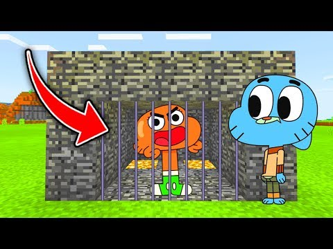 Minecraft : TRAPPING EVIL DARWIN WITH A TRAP WITH GUMBALL! (Ps3/Xbox360/PS4/XboxOne/PE/MCPE)
