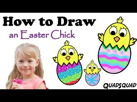 How to Draw a Chick for Easter - Easy for Kids