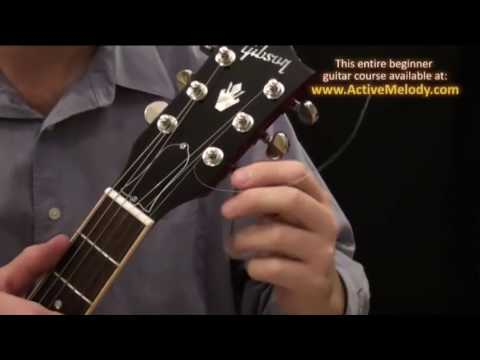 How To Put New Strings On An Electric Guitar (Hollow-body)