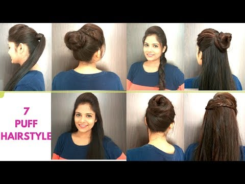 7 Everyday Puff Hairstyles For Medium Hair | Quick Easy puff hairstyles For school/college/work