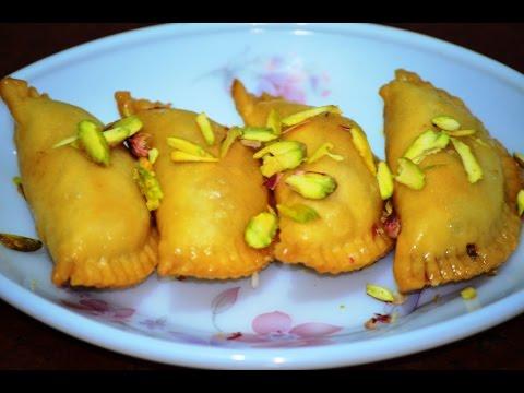 Gujiya Recipe | Mawa Gujiya Recipe | Karanji | How to make Gujiya
