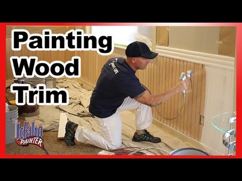 How To Caulk and spackle trim and bead board.  How to paint wood trim.