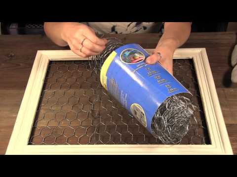 How to create a Chicken Wire Photo Frame