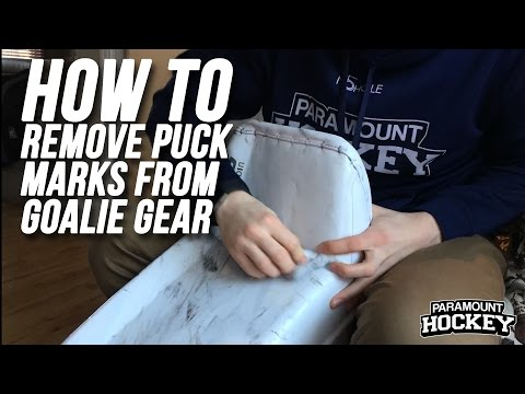 How to Remove Puck Marks from Goalie Equipment - Paramount Hockey